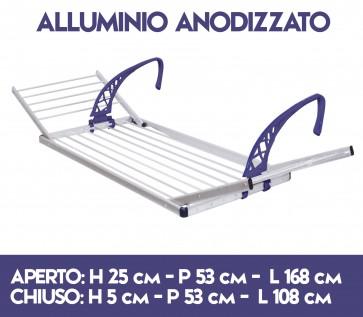 Stendibiancheria stendipanni stendino da balcone con ali Alluminio