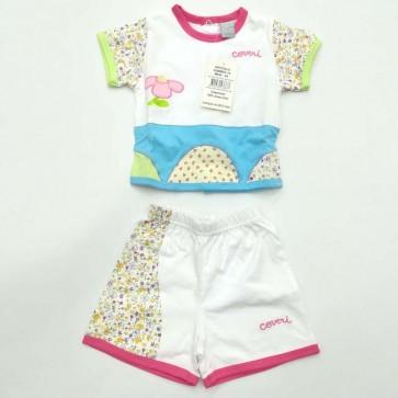 Completo due pezzi neonato femminuccia 100% cotone Enrico Coveri 3/6 mesi
