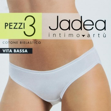3 Slip donna in cotone elasticizzato vita bassa Jadea