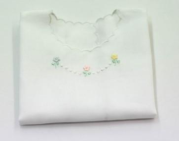 Camicina Bavetta bavaglino neonato in puro cotone ricamata primi giorni