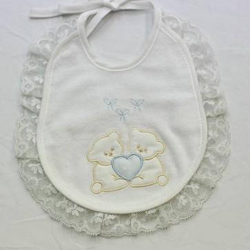 Bavetta bavaglino neonato in cotone ciniglia mis. Piccola