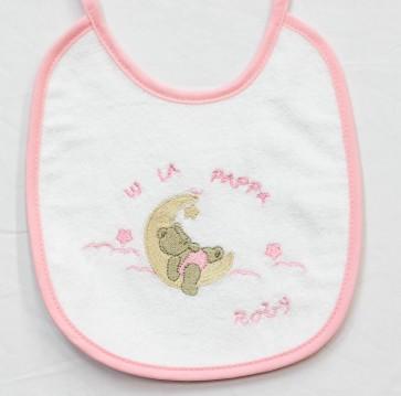Bavetta bavaglino neonato in cotone mis. Piccola