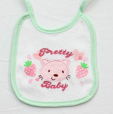 3 Bavetta bavaglino neonato in cotone e spugna mis. Piccola