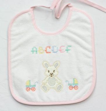 5 Bavetta bavaglino neonato in cotone e spugna mis. Media
