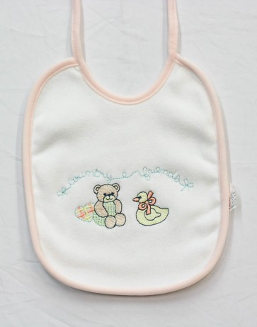 2 Bavetta bavaglino neonato in cotone e spugna mis. Media