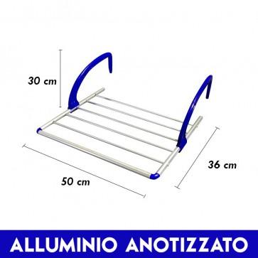 Stendipanni stendibiancheria stendino da balcone alluminio 30x36x50