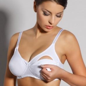 Reggiseno allattamento materno per gravidanza Spiman in cotone coppa aperta