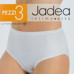 3 Slip donna in cotone elasticizzato midi - altezza media (1 confezione con 3 slip)
