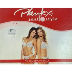 Slip sgambato Playtex in microfibra con pizzo floreale 5300