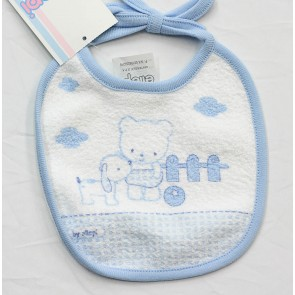 Bavetta bavaglino neonato in cotone e spugna mis. Piccola