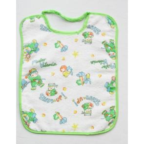 Bavetta bavaglino neonato in cotone e spugna mis. Grande