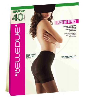 Collant Elledue Shape-up 40 den effetto push-up pancia piatta