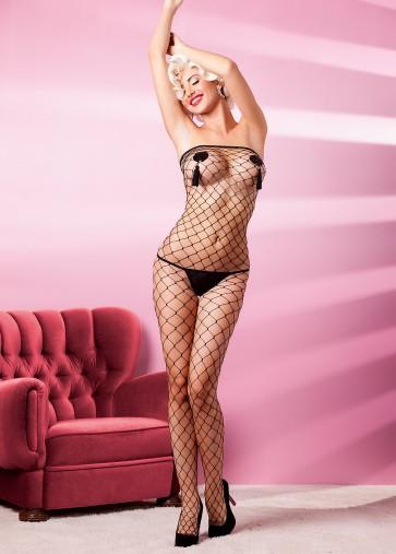Sexy Tuta a rete decoltè Bodystocking Catsuit Anais lingerie mod. Estamo