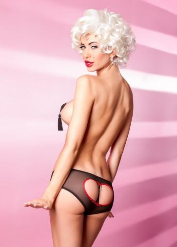 Sexy Mutandine Aperte Anais lingerie mod. Intriganti con gioiello trai glutei